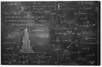 Obraz na Płótnie Matematyka fizyka wzory na tablicy