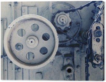 Obraz na Płótnie Mechanizm rocznik maszyna w fabryce