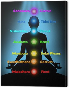 Obraz na Płótnie Medytacja, czakry