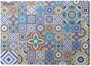 Obraz na Płótnie Mega szwu wzór patchwork. Płytki marokańskie, ozdoby.