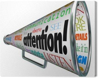 Obraz na Płótnie Megafon Bullhorn Uwaga Wysyła komunikat ostrzegawczy