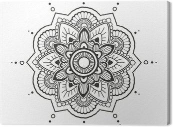 Obraz na Płótnie Mehendi, mandala