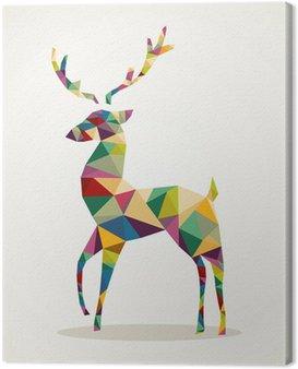 Obraz na Płótnie Merry Christmas trendy abstrakcyjne renifery EPS10 file.
