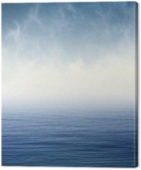 Mgła Blue Ocean. Mgła i chmury unoszące się nad Pacyfikiem. Obraz wyświetlany jest ziarno papieru miłą i fakturę na 100%.