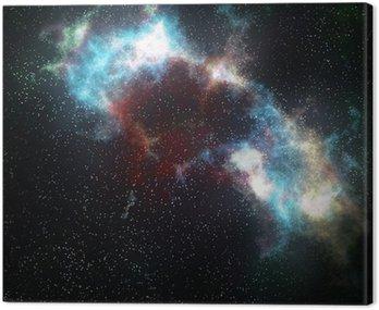Obraz na Płótnie Mgławica przestrzeni kosmicznej chmury i gwiazdy