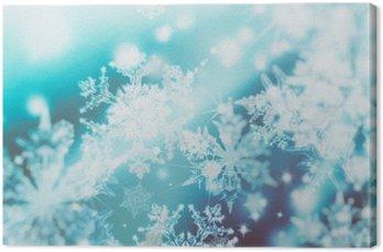 Obraz na Płótnie Migające światła rozmycie spot na abstrakcyjnym tle. Wzór płatków śniegu