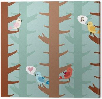 Obraz na Płótnie Miłości ptaków na drzewach