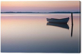 Obraz na Płótnie Mistyczne morze. Streszczenie naturalne tła. Księżyc scena po słońcu