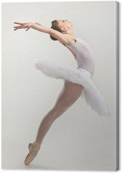 Obraz na Płótnie Młody tancerz baletnicy tutu wykonywania na pointes