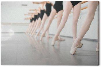 Obraz na Płótnie Młodzi tancerze ballerinas w klasie tańca, baletu klasycznego