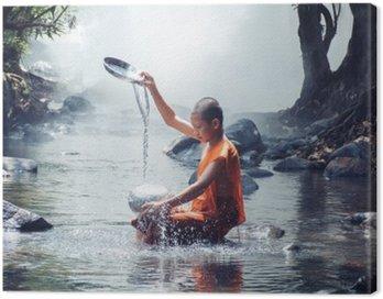 Obraz na Płótnie Mnich zabaw wody