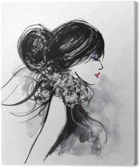 Obraz na Płótnie Moda modelu kobieta z szalikiem