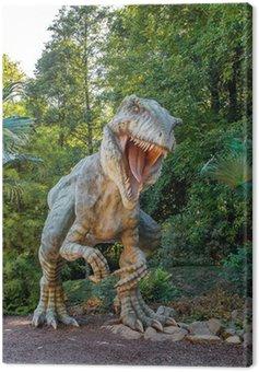 Model z dużym Tyranosaurus rex dżungli