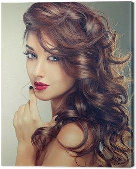Obraz na Płótnie Modelu z kręcone włosy