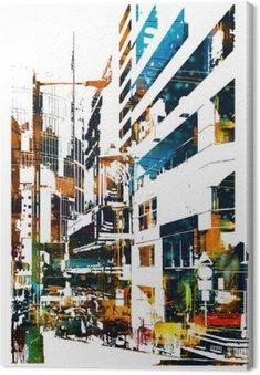 Obraz na Płótnie Modern Urban miasta, ilustracja malarstwo