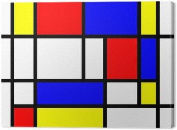 Obraz na Płótnie Mondrian styl tła