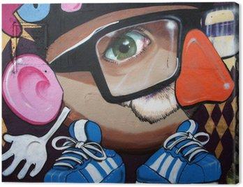 Obraz na Płótnie Monigote en graffiti,