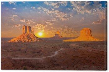 Obraz na Płótnie Monument Valley sunset chmury