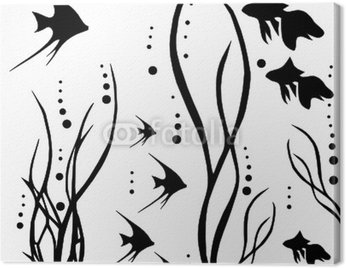 Obraz na Płótnie Morze powtarzalne z rybami
