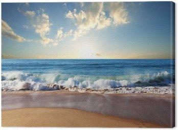 Obraz na Płótnie Morze zachód słońca