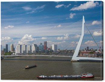 Obraz na Płótnie Most Erasmus w Rotterdamie