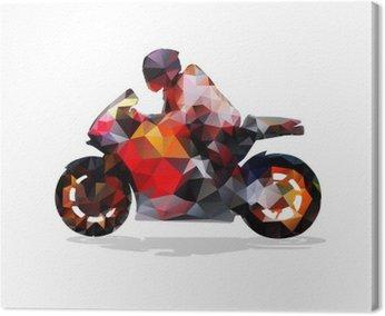 Motocykl, abstrakcyjne geometryczne wektor sylwetka. przejażdżki motocyklowe