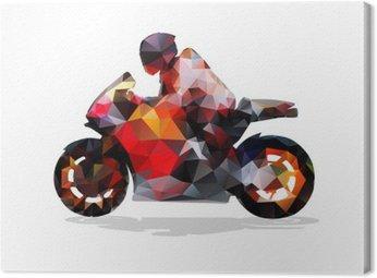 Obraz na Płótnie Motocykl, abstrakcyjne geometryczne wektor sylwetka. przejażdżki motocyklowe
