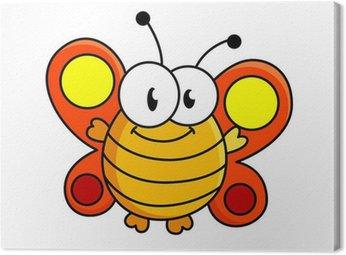 Obraz na Płótnie Motyl cartoon ilustracji tłuszczu