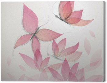 Obraz na Płótnie Motyl jak kwiat / surrealistycznej tle kwiatów