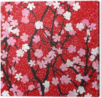 Obraz na Płótnie Motyw kwiatowy tło wiosna
