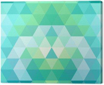 Obraz na Płótnie Mozaiką w tle trójkąta. geometryczne tle