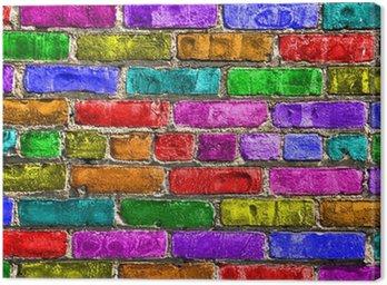 Mur wielokolorowe Briques