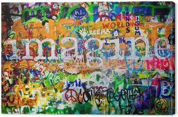 Obraz na Płótnie Muro de John Lennon (Praga) - wyobraź sobie (toma 1)