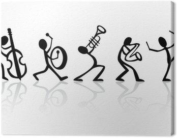 Obraz na Płótnie Muzycy, zespół grający muzykę wektor idealny do koszulek