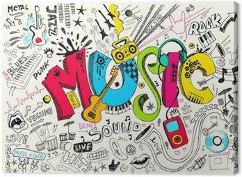 Obraz na Płótnie Muzyka doodle