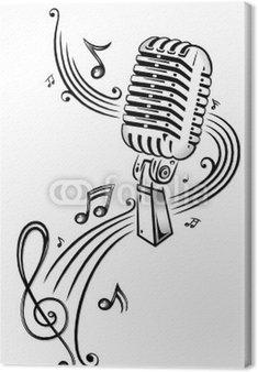 Obraz na Płótnie Muzyka, muzyka notatek, notatki, klucz wiolinowy, kuchenka