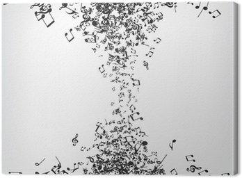 Obraz na Płótnie Muzyka Notatki Tekstury