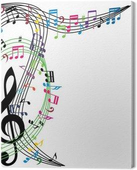 Obraz na Płótnie Muzyka notatki tle, stylowy motyw muzyczny