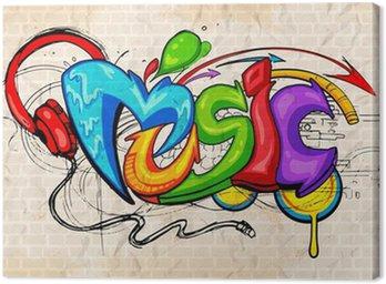 Obraz na Płótnie Muzyka w tle w stylu graffiti
