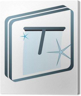 Obraz na Płótnie Mycie okien Okno sprzątaczki sprzątanie piktogram