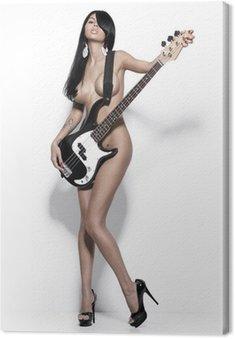 Obraz na Płótnie Nagie dziewczyny z gitarą