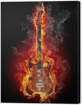 Obraz na Płótnie Nagrywanie gitary rockowej