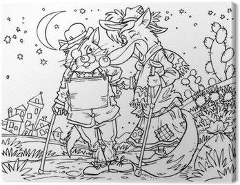 Obraz na Płótnie Nędznych kot i fox (bajkowy Pinokio)