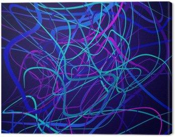 Obraz na Płótnie Neon kształty, kompozycji abstrakcyjnych, jasne tło, plątanina kolorowych kształtów wektorowych sztuki projektowania
