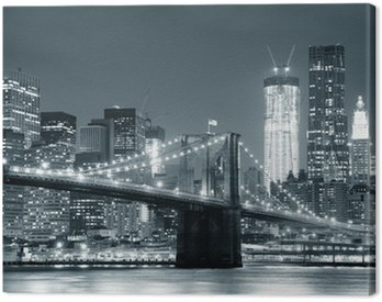 Obraz na Płótnie New York City Brooklyn Bridge