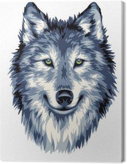 Obraz na Płótnie Niebieski Wilk dzikich
