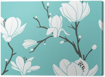 Obraz na Płótnie Niebieski wzór magnolii