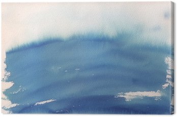 Obraz na Płótnie Niebieskie ombre tło akwarela