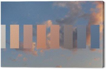 Obraz na Płótnie Niebo Tekstura i chmur o zachodzie słońca
