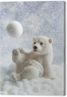 Obraz na Płótnie Niedźwiedź polarny dekoracji